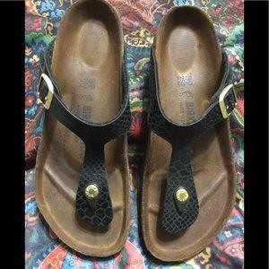 BIRKENSTOCK Black Sandals No toe stain/indention